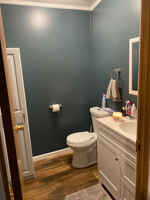 Ohio double wide master bath after