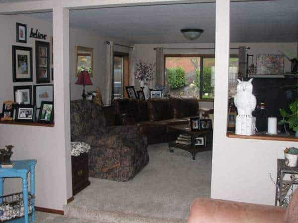 Oregon-mobile home with addition - interior