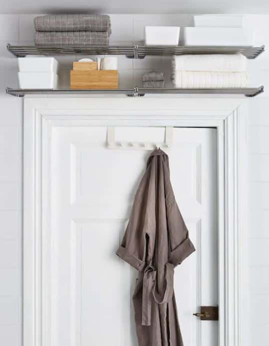 Organize your mobile home above door shelves