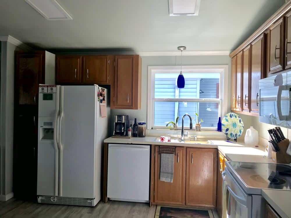 Original Kitchen In 1988 Fuqua Manufactured Home