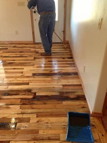 using pallet for flooring