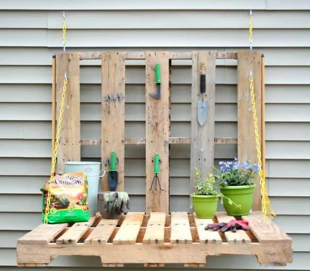 planting shelf pallet project