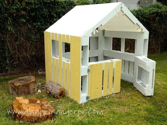 DIY playhouse made from pallets