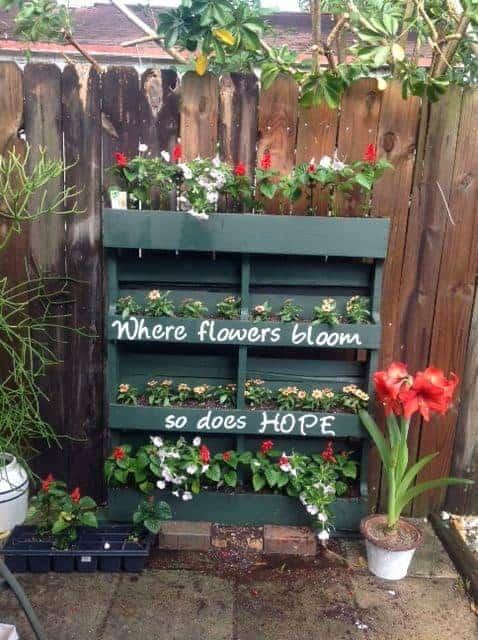 vertical garden planter from pallets