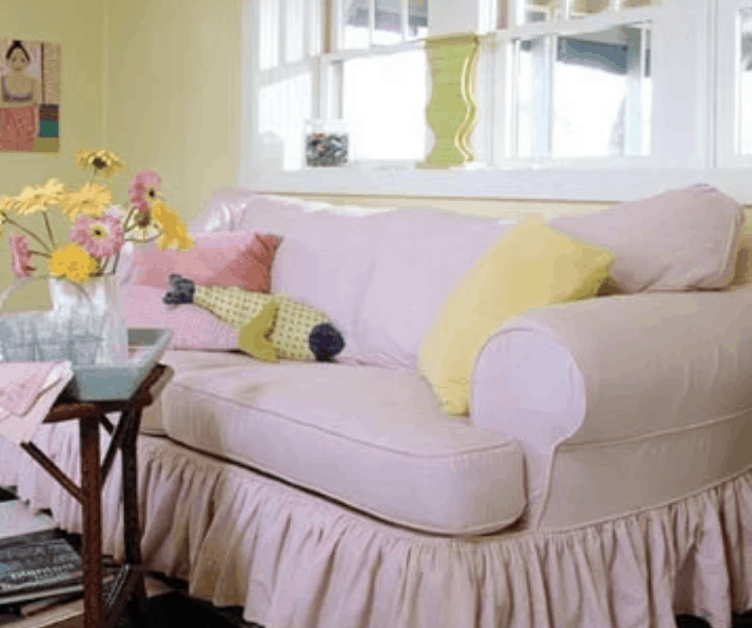 pastel colors in living room - Colorful Single Wide Makeover