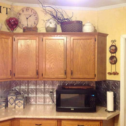 beautiful double wide with country primitive decor - kitchen photos- cabinet and counters