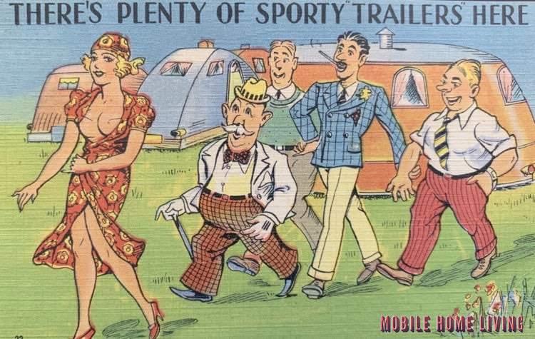Plenty Of Sporty Trailers Here Postcard 1