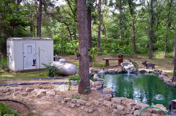 Pond In Yard