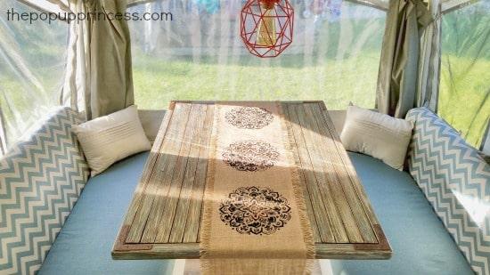 Pop up camper dining table