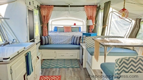 Pop Up Camper Interior After
