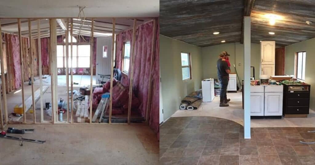 Primitive country remodeling process