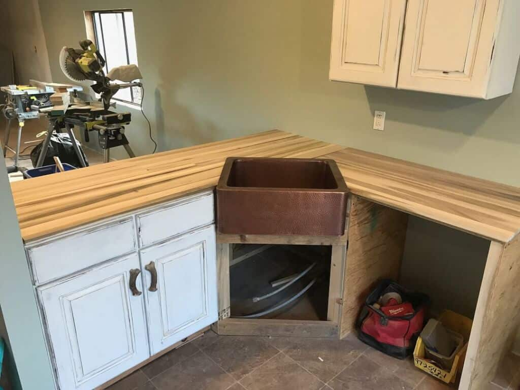 Primitive Country Sink And Countertop Build