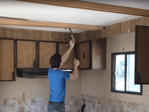 How to Replace Your Mobile Home Ceiling with Drywall 3