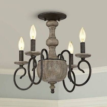 quoizel rustic candle chandelier