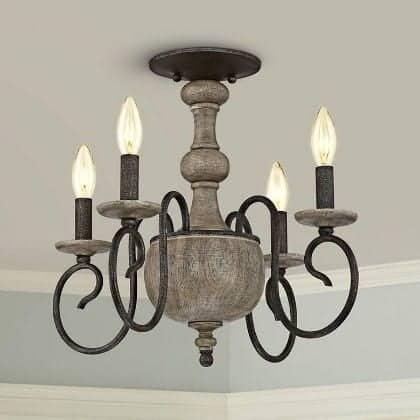 Quoizel rustic candle chandelier