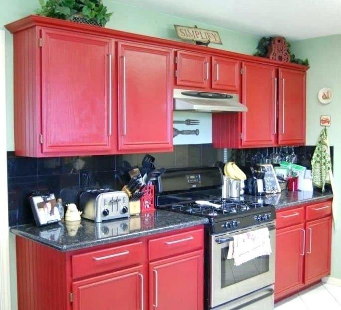 Rckc44 Red Color Kitchen Cabinets Wtsenates