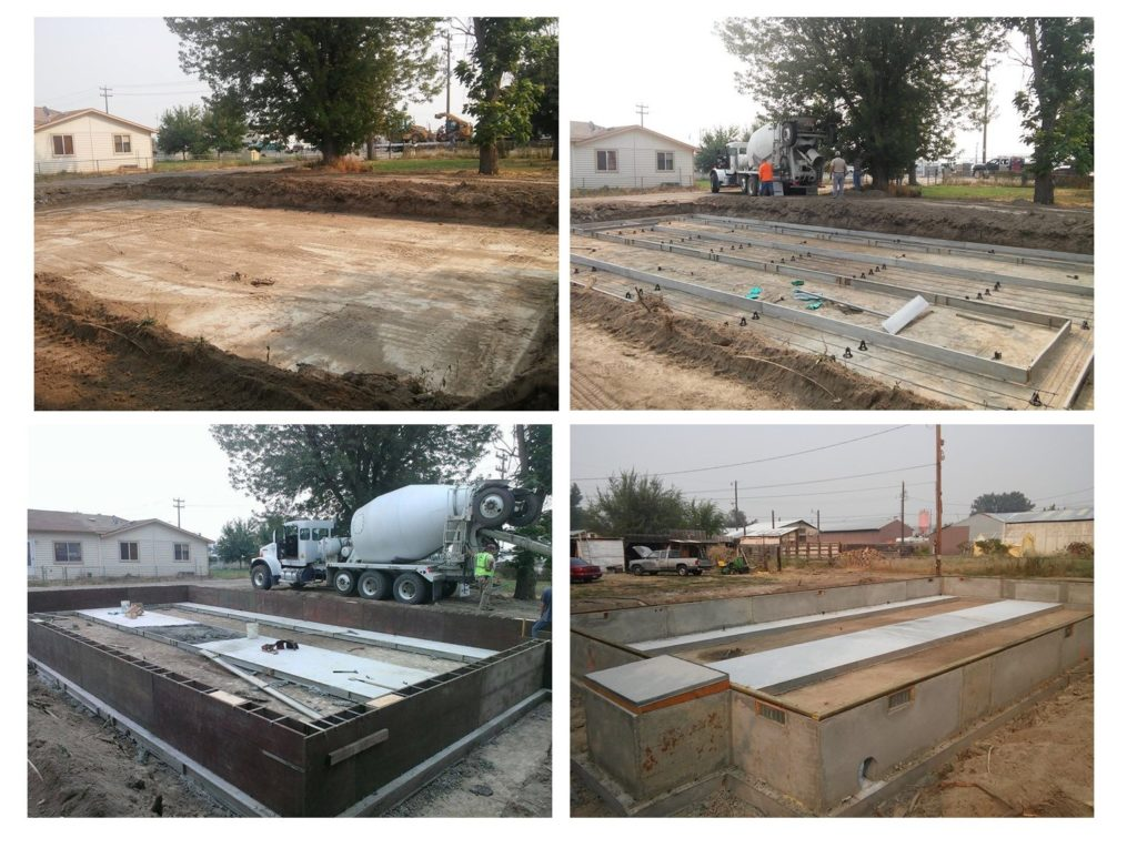 Refurbished double wide pouring foundation 1