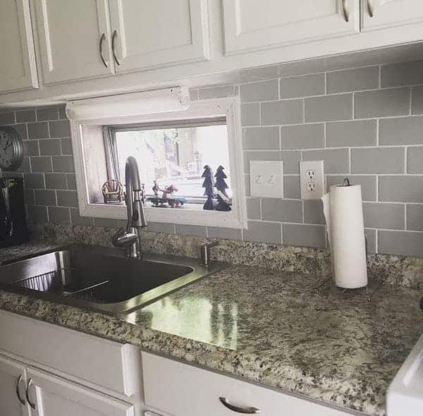 remodel a single wide mobile home- kitchen counter after