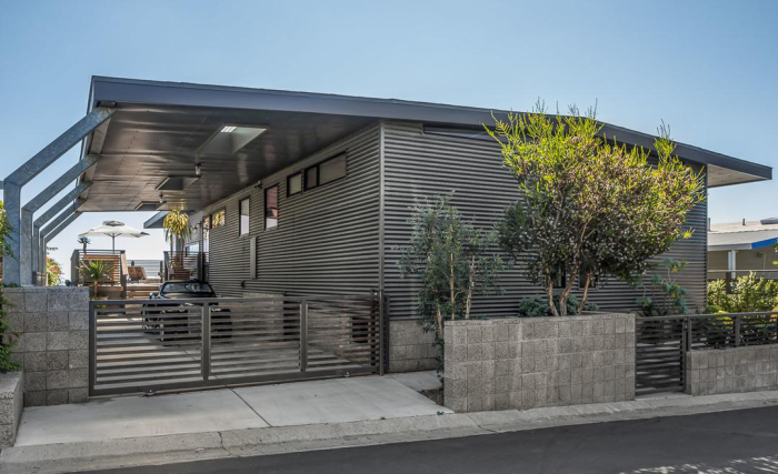 Renovated manufactured home exterior