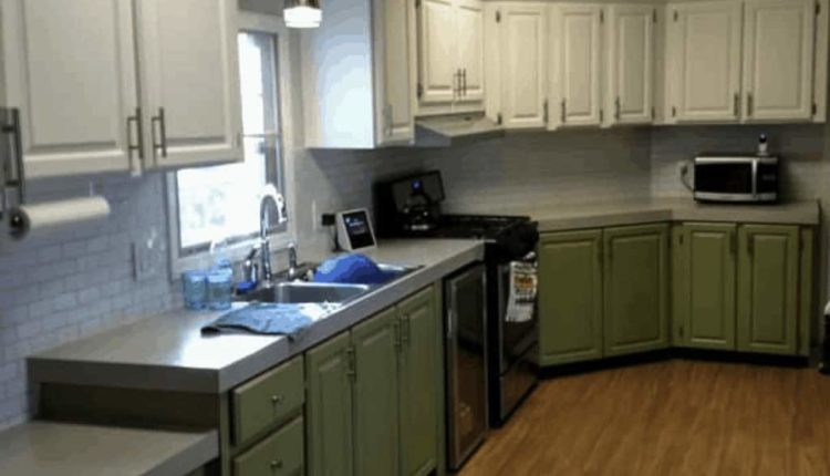Repairing And Painting Mobile Home Cabinets Green Cabinets In Mobile Home 2