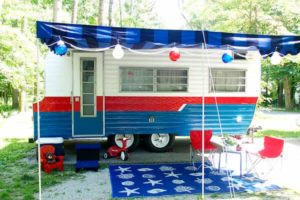 repurposed vintage camper-exterior after