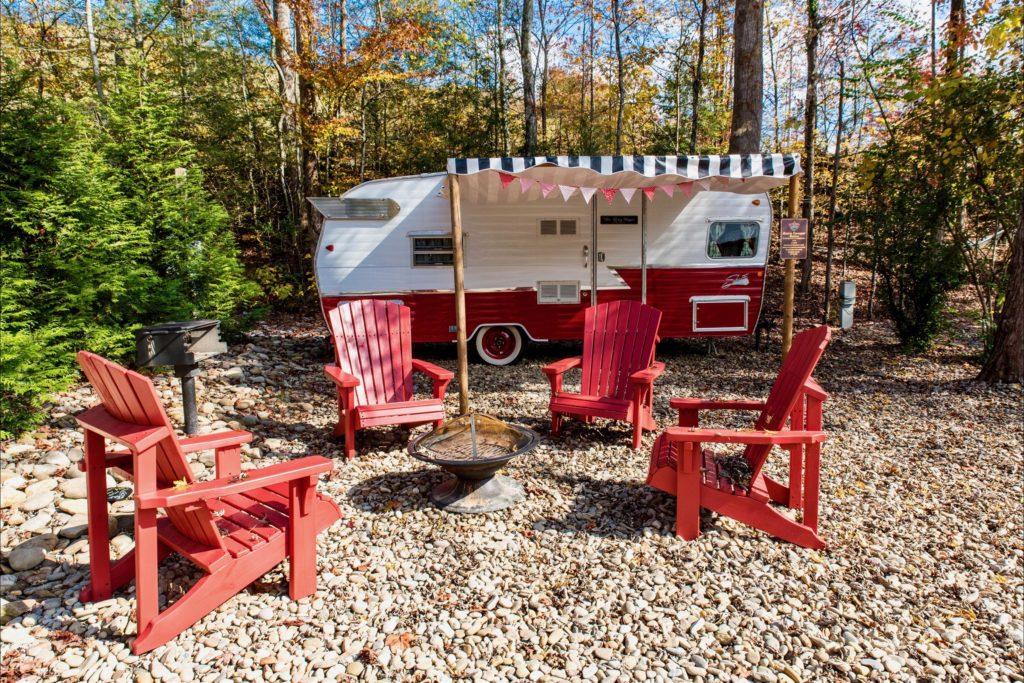 Retro trailer park resorts camp le conte trailer