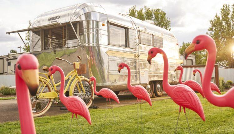 Retro Trailer Park Resorts The Vintages Resort Flamingo Trailer