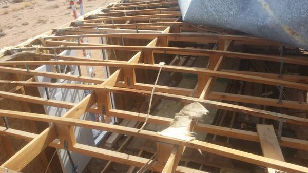 Bowstring trusses are a dome shape