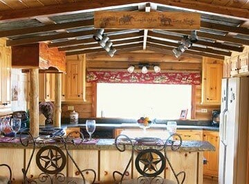 Rustic Cabin Mobile Home Kitchen Makeover
