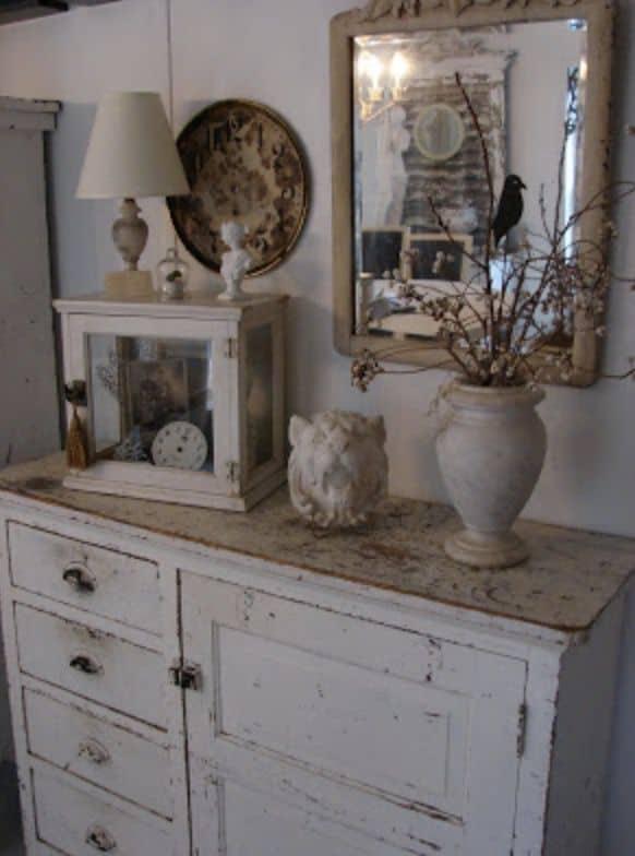 tablescape with antique decor