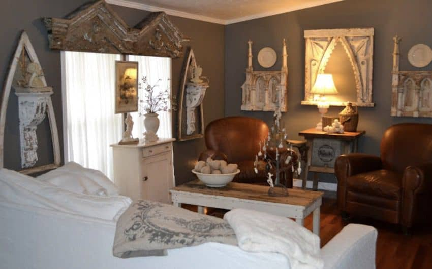 modern eclectic bedroom in double wide