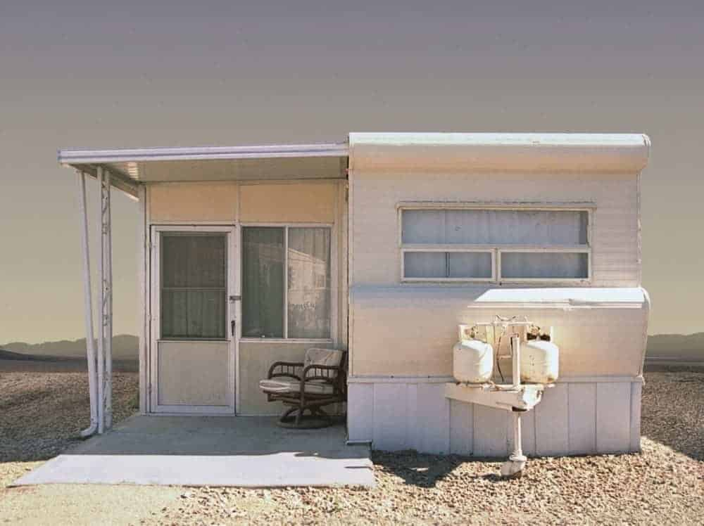 flat mobile home roof design