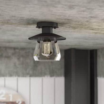 Semi-flush ceiling light by trent austin