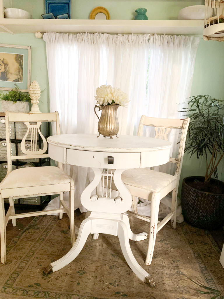 Shabby Chic Farmhouse R V Makeover Dining Area