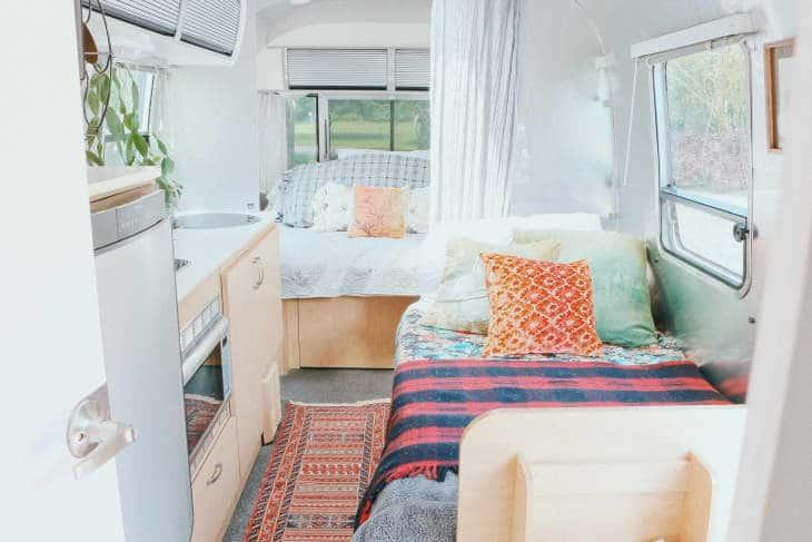 Shabby chic airstream beds