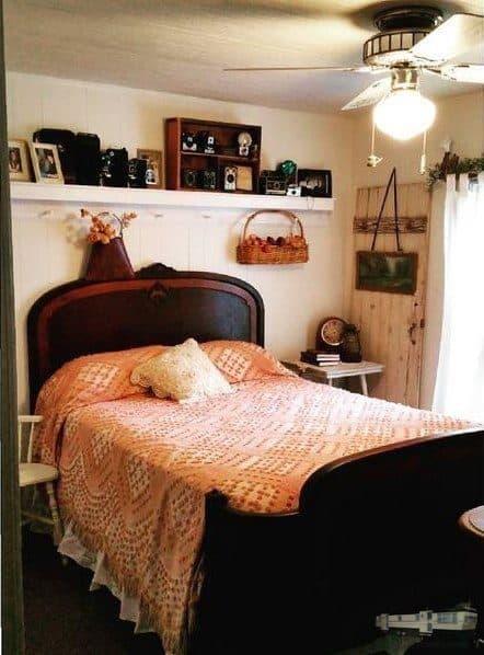 Shabby Chic Bedroom In Mobile Home Jpg