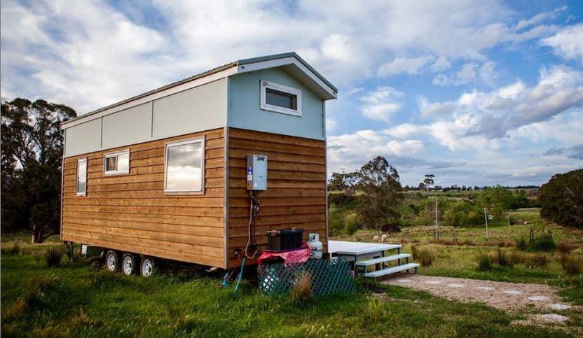 Shabby chic tiny house exterior