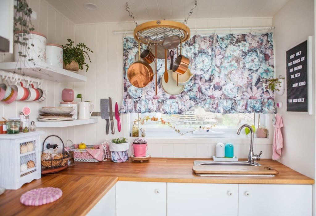 Shabby Chic Tiny House Kitchen Area