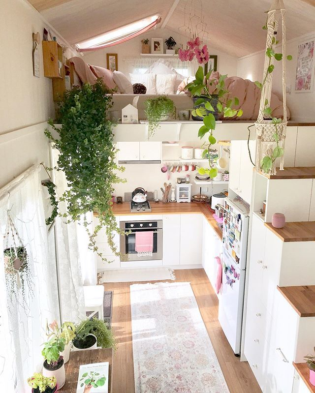 Shabby Chic Tiny House Looking Down