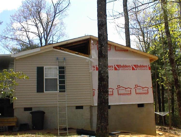 Single Wide Addition Roof Attached To Manufactured Home