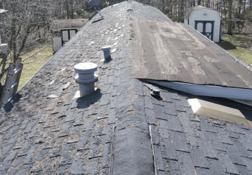 Single Wide Before Metal Roof Over