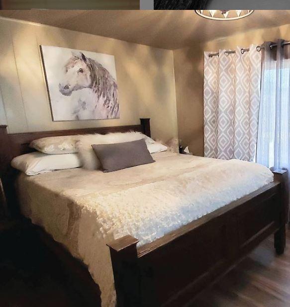Single wide love shack bedroom