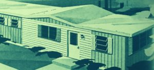 Single Wide Mobile Home Witrh A Gabled Roof Just In The Living Room Area