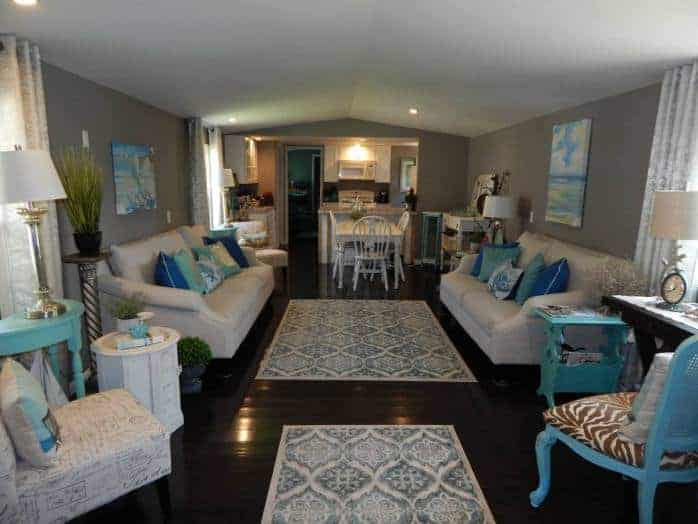Single Wide Mobile Home Living Rooms, How To Decorate A Living Room In Single Wide Mobile Home