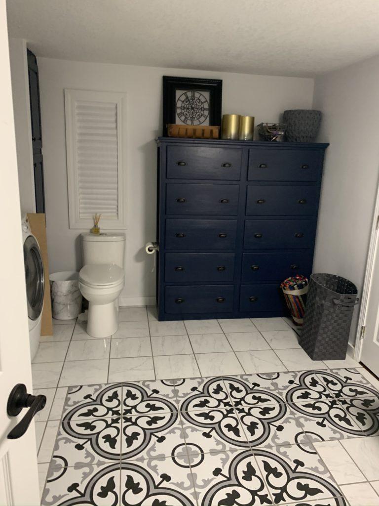 Skyline bathroom cabinet after