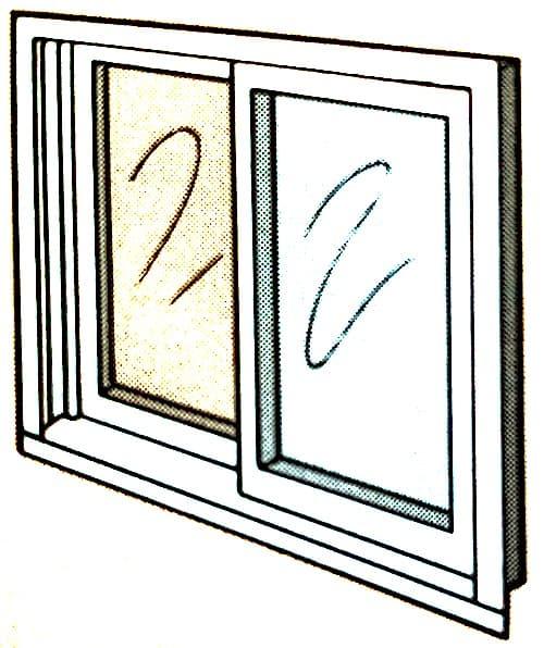 Slider window in mobile home