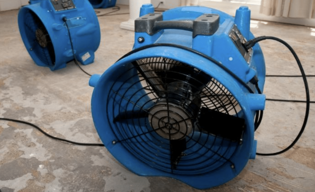Standard air mover for water damage restoration