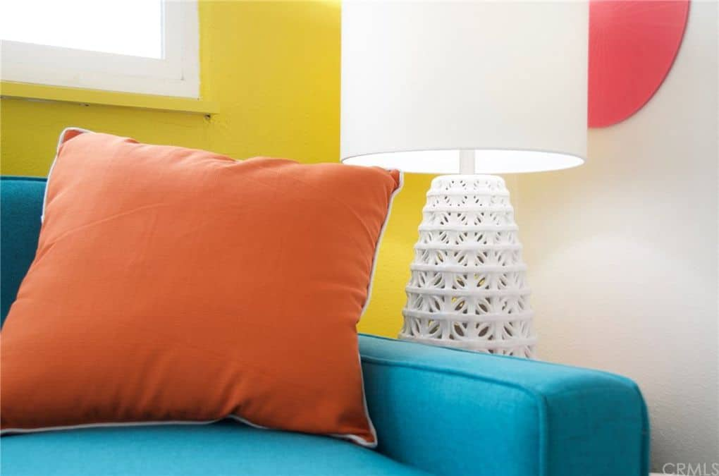 Texture And Fabrics In Colorful Retro Mobile Home