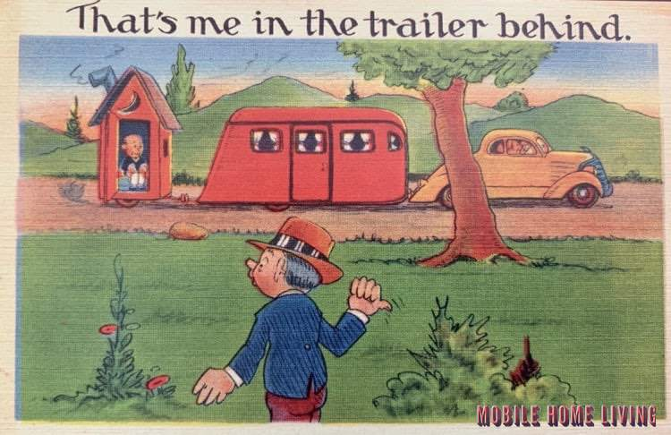 Thats Me In The Trailer Postcard 1
