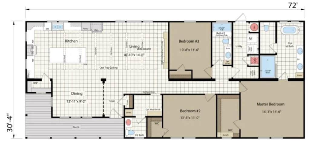 The zion floor plan